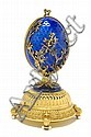An Igor Carl Faberge Gilt Silver and Guilloche Enamel Musical Jewelry Box, Height 6 3/8 inches., Klaus D. Bingel, Click for value