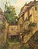 * Theodor Feucht, (German, 19th century), Courtyard, Theodor Eugen Christoph Feucht, Click for value