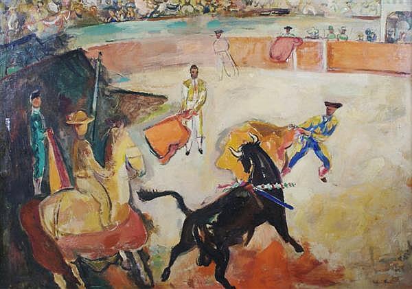 Francis Chapin, (American, 1899-1955), Black Bull