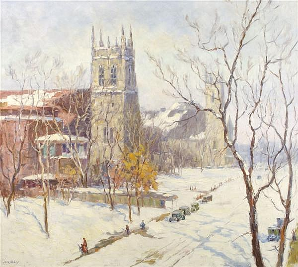 Jess Hobby, (American, 1871-1938), Winter Afternoon