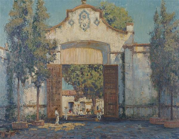 Alson Skinner Clark, (American, 1876-1949), Cathedral Gate, Cuernavaca, Mexico