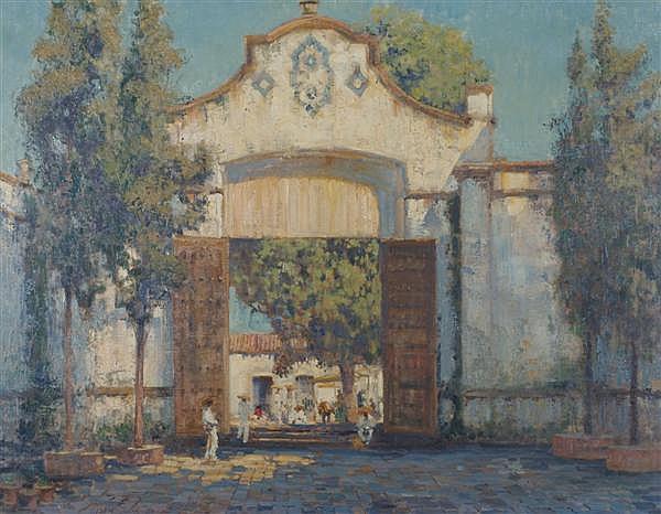 Alson Skinner Clark, (American, 1876-1949), Cathedral Gate, Cuernavaca, Mexico