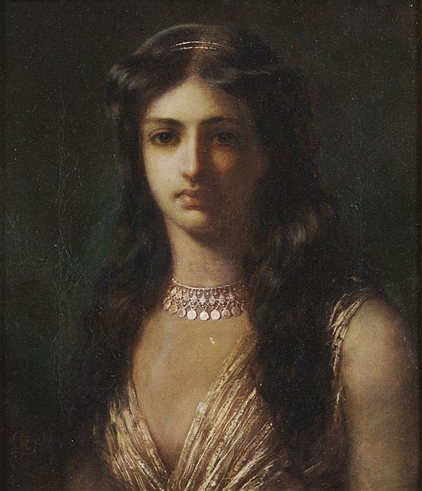 John Robert Dicksee, (British, 1817-1905), And She Waited on Naaman's Wife