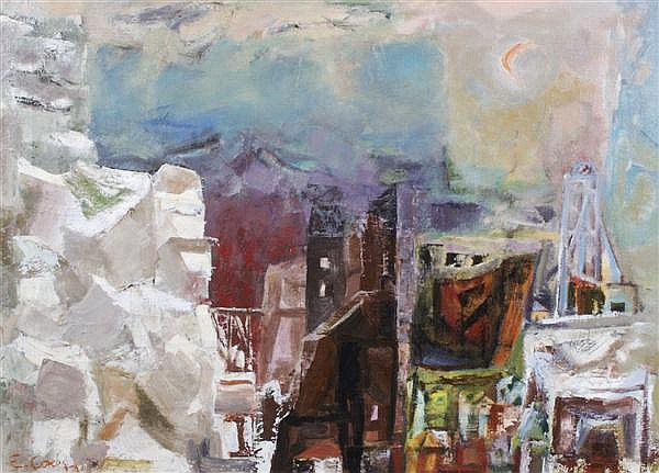 Eleanor Coen, (American, b. 1916), The White Cliff