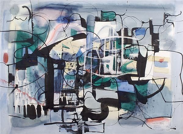 Rainey Bennett, (American, 1907-1998), Abstraction