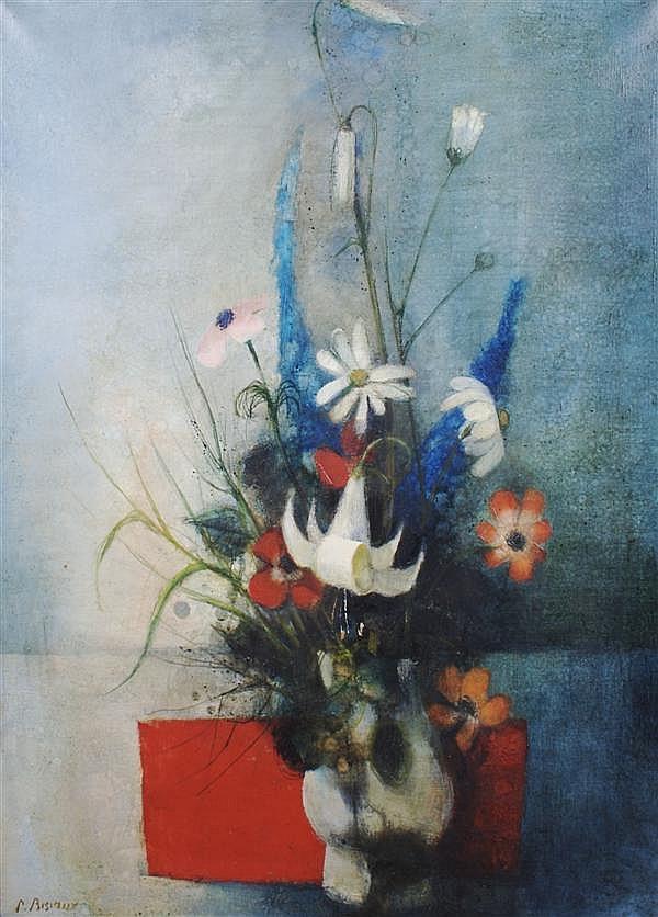 Pierre Bisiaux, (French, b. 1924), Floral Still Life