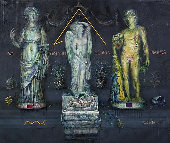 *Valentin Popov, (Ukrainian, b. 1956), Sic Transit Gloria Mundi, 1986