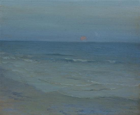 Augustus Vincent Tack, (American, 1870-1949), Seascape