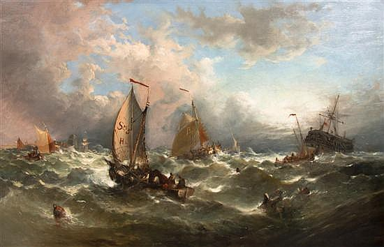 William Henry Williamson, (British, 1820-1883), Rescue at Sea