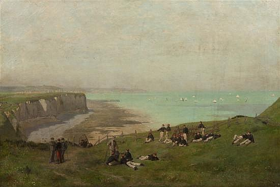 *Paul-Alexandre Protais, (French, 1826-1890), Soldiers on Shore