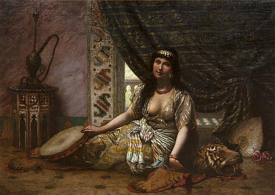 Agapit Stevens, (Belgian, 1849-1917), Danseuse Orientale au Repos