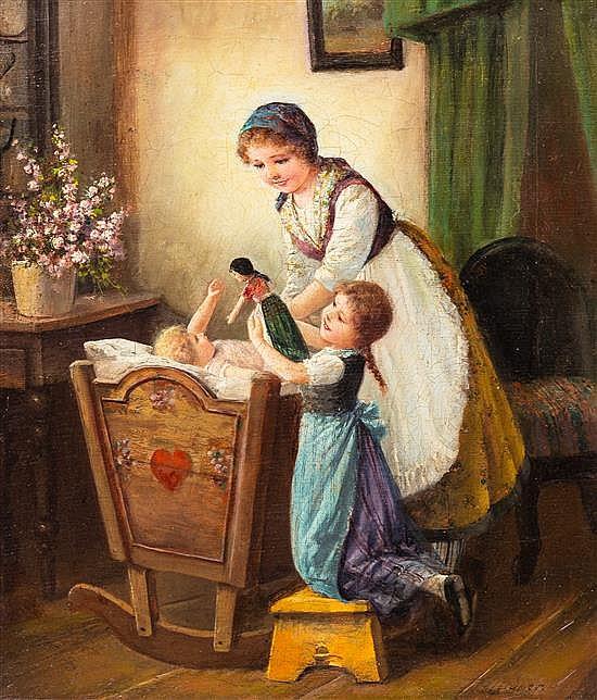 F. Tilgner, (Belgian, 1871-1957), The Crib