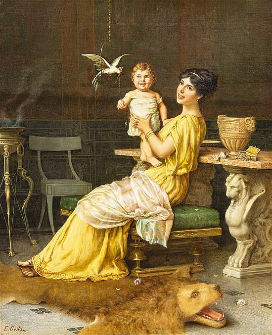 Emmanuele Costa, (Italian, 1875-1959), Mother and Child