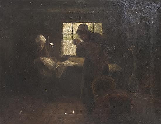 Gerardus Lodewyk Franciscus Jacobus Bal, (Belgian, 1872-1912), New Baby