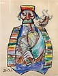 *Jovan Obican, (French, 1918-1986), Man with Bagpipe, Jovan  Obican, Click for value