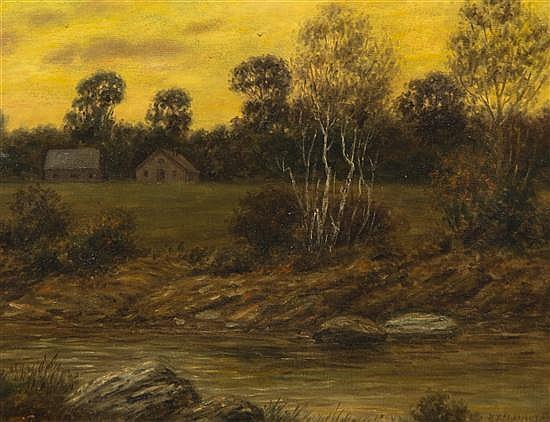 Hans John Stoltenberg, (American, 1879-1963), Streamside