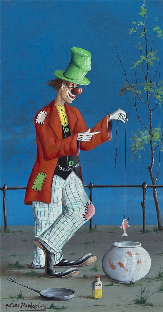 Alfano Alfredo Dardari, (Italian, b. 1924), The Clown, 1960