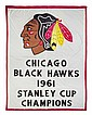 * Blackhawks 1961 Stanley Cup Championship Banner 144 x 94 inches