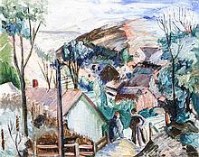 Glen Allison Ranney, (Wisconsin, 1896-1959), The Edge of the Village, circa 1930