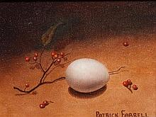 Patrick Farrell, (Wisconsin, b. 1945), Egg and Sprig with Berries, 1968