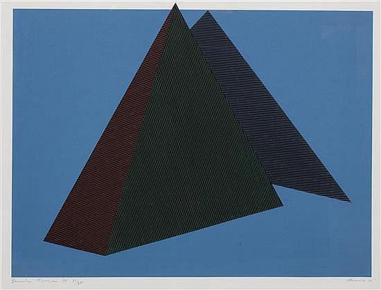 Jean Marie Haessle, (American/French, b. 1939), Bermuda Triangle, 1980