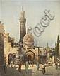 * August Siegen, (German, 1890-1920), Outside the Mosque