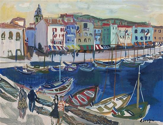 Maurice Empi, (French, b. 1932), Honfleur