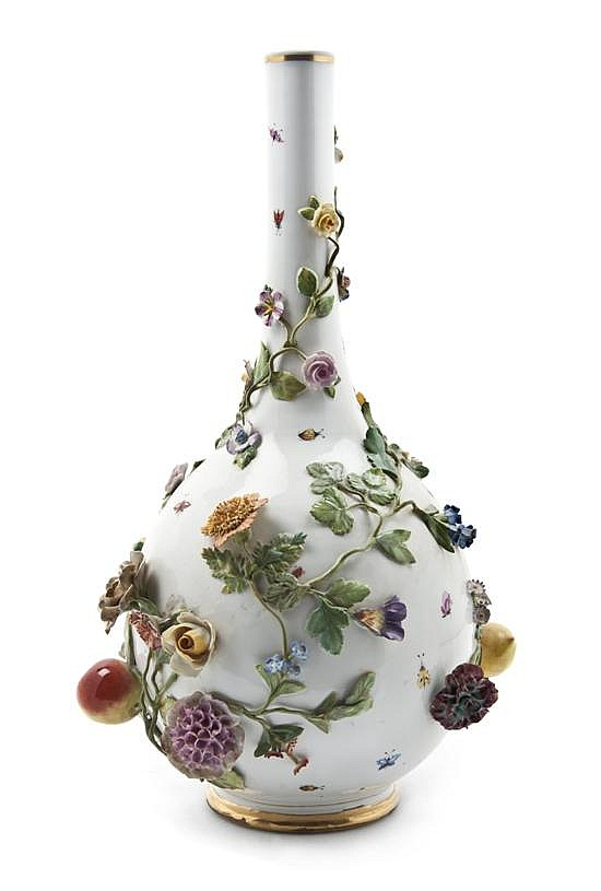 A German Porcelain Vase, Height 17 inches.