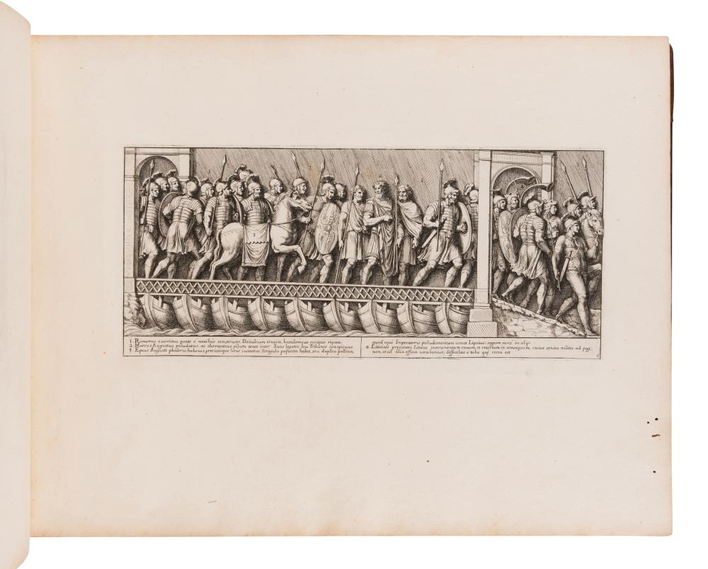 BARTOLI, Pietro Santi (ca 1635-1700).  Columna cochlis M. Aurelio Antonino Augusto dicata.... Rome: Domenico de Rossi, 1704-1708.