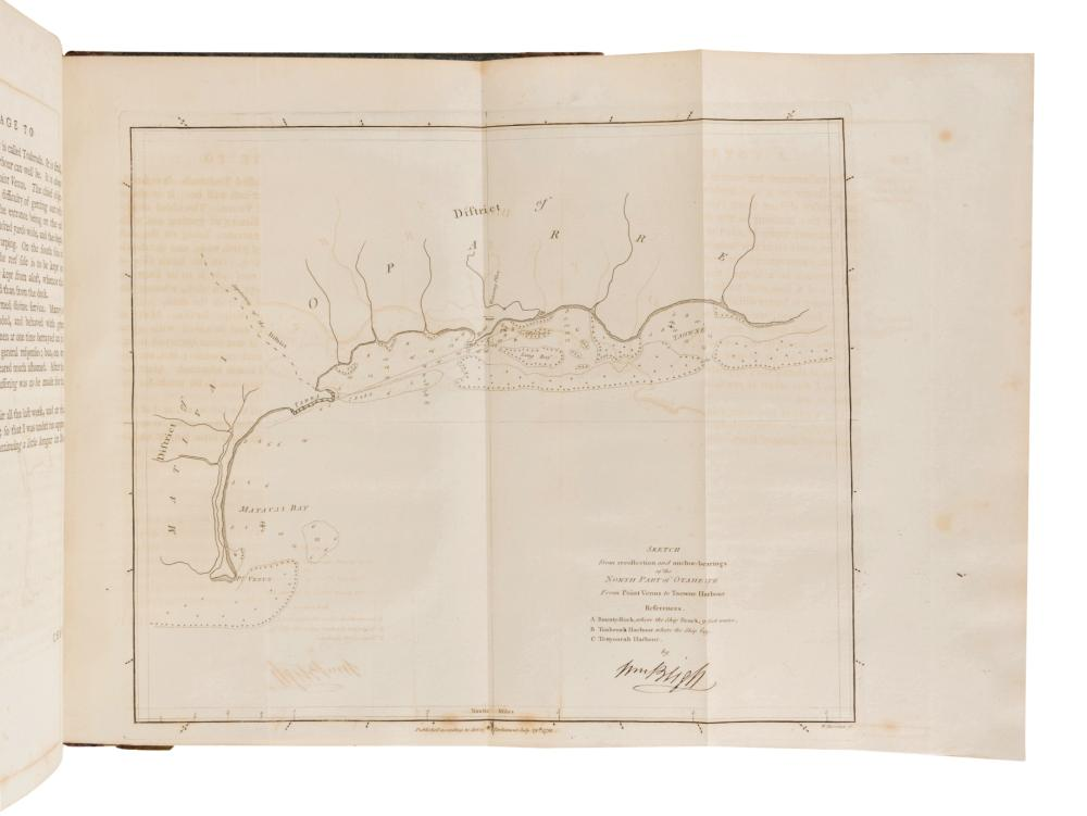 """[TRAVEL & EXPLORATION]. BLIGH, William (1754-1817). A Voyage to the South Sea""""¦ for the purpose of Conveying the Bread-Fruit Tree to the West Indies, in His Majesty's Ship the Bounty. London: Printed for George Nicol, 1792."""
