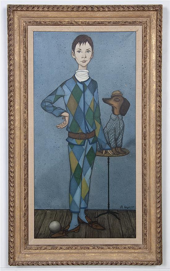 Philippe Noyer, (French, 1917-1985), Jester Boy, 1958