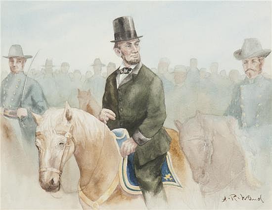 Alfred Rudolf Waud, (American, 1828-1891), Abraham Lincoln