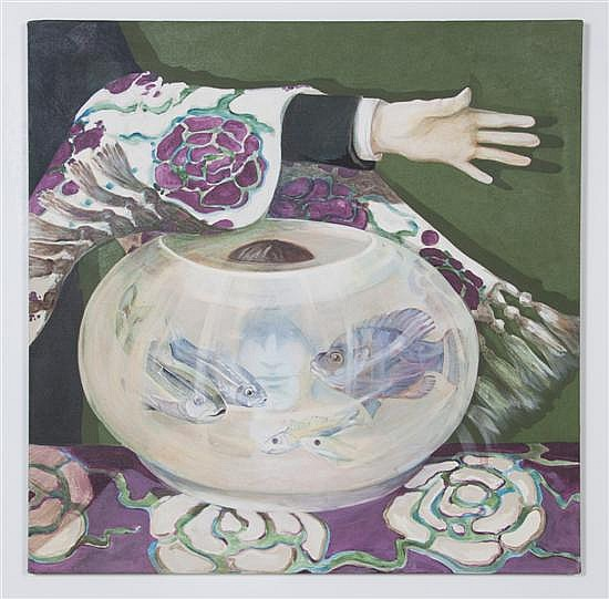 Ellen Lanyon, (American, b. 1926), Phantom Fish Bowl, 1970
