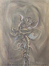 Ezio Martinelli, (American, 1913-1980), Untitled (Abstraction), circa 1953
