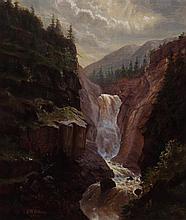 Frederick Billing, (American, 1835-1914), Falls in European Setting
