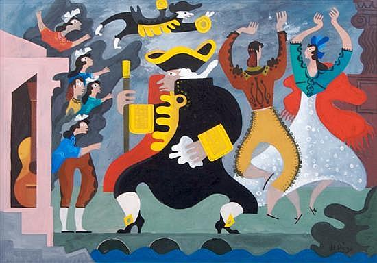 Julio de Diego, (Spanish/American, 1900-1979), Untitled