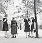 Jerry Schatzberg, (American, 20th Century), Four at Gramercy Park, New York, 1959, Jerry Schatzberg, Click for value