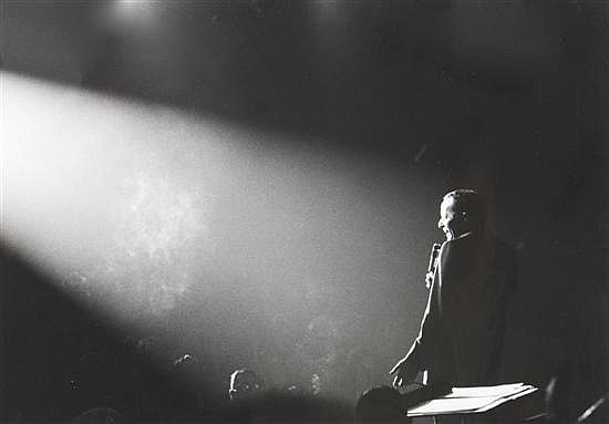 John Dominis, (American, b. 1921), Frank Sinatra Singing, 1964-65