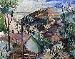 Glen Allison Ranney, (American, 1896-1959), The Edge of the Village