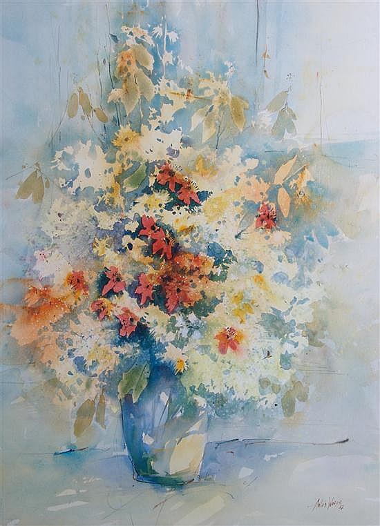 Anton Weiss, (Yugoslavian, b. 1951), Vase of Flowers
