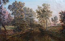 * Henry Hewitt, (British, 1818-1875), River Landscape, 1872