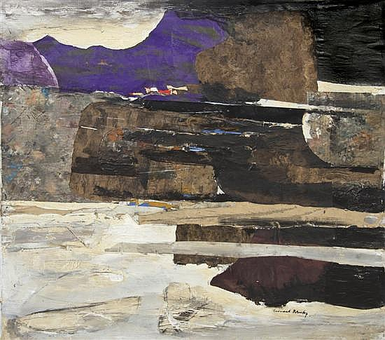 Leonard Brooks, (Canadian, b. 1911), Coastal Crete, 1968