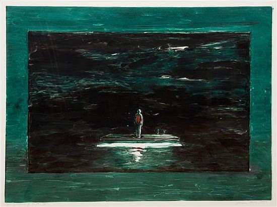 Susan Hall, (American, b. 1943), The Swimming Raft IV, 1989