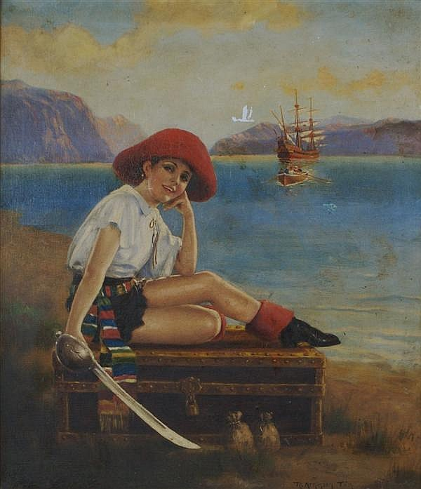 R. Atkinson Fox, (American, 1860-1935), Pirate Treasure Chest