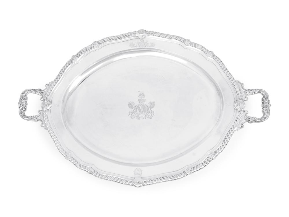 A George III Silver Serving Tray