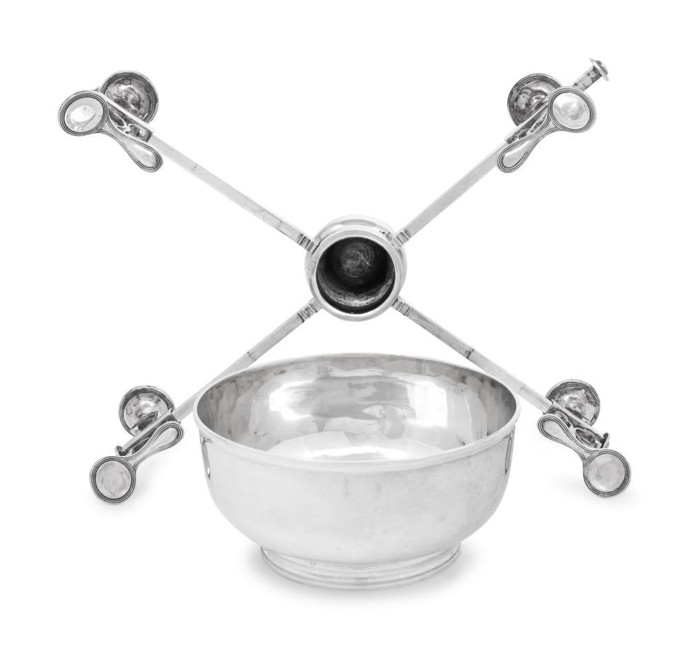 A George III Silver Dish Cross