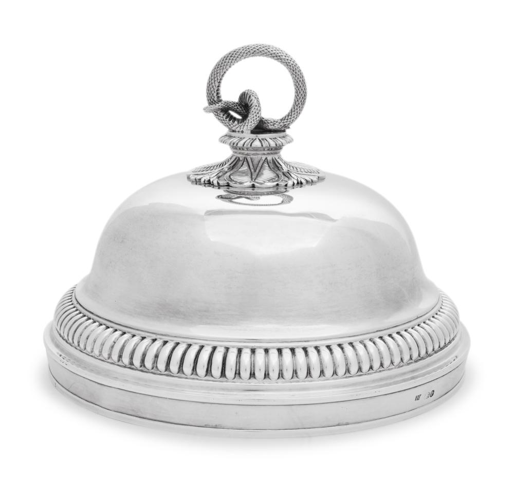 A George III Silver Cloche