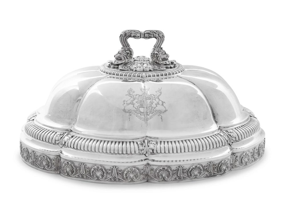 A Paul Storr George III Silver Cloche