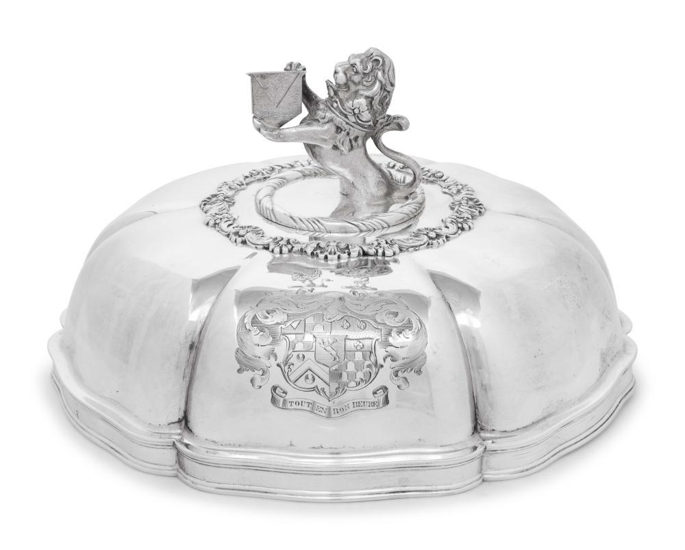 A George III/IV Silver Cloche