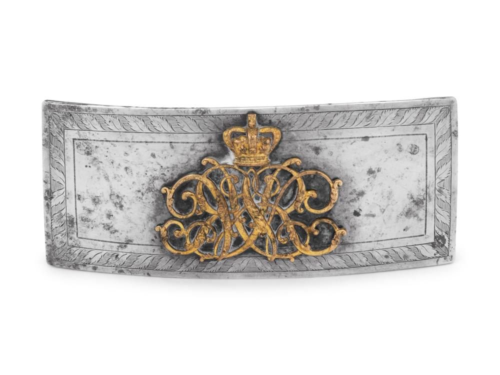 A William IV Silver Mounted Officer's Flap Pouch